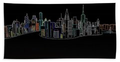 Glowing City Hand Towel