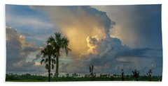 Glowing Cloud Sunrise Bath Towel