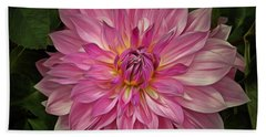 Glowing Dahlia Bath Towel by Patricia Strand