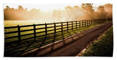 Bath Towel featuring the photograph Glowing Fog At Sunrise by Shelby Young