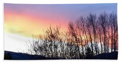 Hand Towel featuring the photograph Glowing Kalamalka Lake by Will Borden