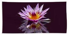 Glowing Lilly Flower Bath Towel by Shane Bechler