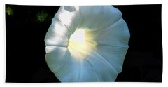 Glowing Morning Glory Bath Towel by Karen Molenaar Terrell