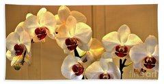 Glowing Orchids Bath Towel