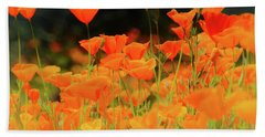 Glowing Poppies Hand Towel