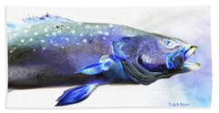 Bath Towel featuring the painting Glowing Trout by Phyllis Beiser