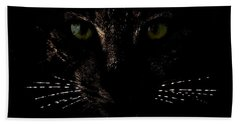 Glowing Whiskers Bath Towel by Helga Novelli