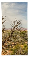 Gnarled Juniper Tree In Arches Hand Towel