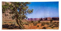 Gnarled Utah Juniper At Monument Vally Hand Towel