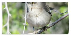 Hand Towel featuring the photograph Northern Mockingbird by Tam Ryan