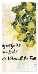 Hand Towel featuring the digital art Go Out On A Limb by Colleen Taylor