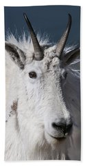 Goat Portrait Bath Towel by Gary Lengyel