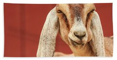Goat With An Attitude Bath Towel
