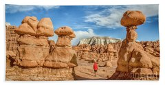 Goblin Valley State Park Bath Towel by JR Photography