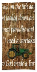 God Made A Farmer Barn Door Hand Towel