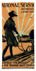 God Speed The Plough And The Woman Who Drives It Hand Towel