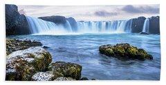 Godafoss Waterfall In Iceland Bath Towel