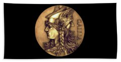 Goddess Of Gaul Hand Towel by Fred Larucci