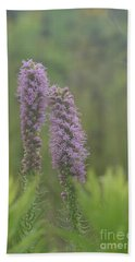 Hand Towel featuring the photograph Godfrey's Blazing Star by Maria Urso