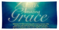 God's Amazing Gift Of Grace Hand Towel by Kimberlee Baxter