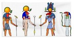 Gods And Goddess Of Ancient Egypt Bath Towel