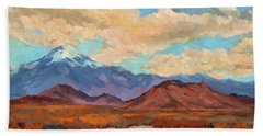 God's Creation Mt. San Gorgonio  Hand Towel by Diane McClary