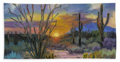 God's Day - Sonoran Desert Hand Towel by Diane McClary