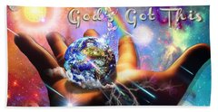 Bath Towel featuring the digital art God's Got This by Dolores Develde