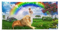 Bath Towel featuring the digital art God's Perfect Promise  by Dolores Develde