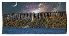 God's Space Over Planet Earth Hand Towel
