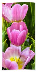 God's Tulips Bath Towel by Carlos Avila