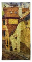 Going Downhill And Round The Bend Bath Towel