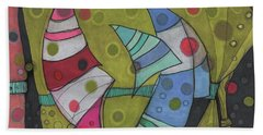 Going In Circles Hand Towel by Sandra Church