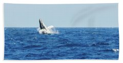 Hand Towel featuring the photograph Going Vertical Off Bermuda by Jeff at JSJ Photography
