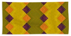 Gold And Green With Orange  Hand Towel by Michelle Calkins