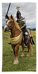 Gold And Silver Knight Hand Towel