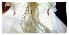 Gold And White Angel Hand Towel