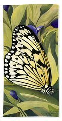 Gold Butterfly In Branson Hand Towel