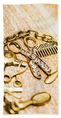 Gold Class Hair Styling Background Hand Towel