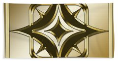 Gold Coffee 2 - Chuck Staley Hand Towel by Chuck Staley