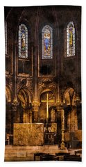 Paris, France - Gold Cross - St Germain Des Pres Hand Towel