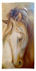 Bath Towel featuring the painting Gold Dust 2 by Dina Dargo