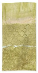 Gold Glam Pretty Abstract Bath Towel