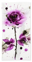 Gold Heart Of The Rose Hand Towel