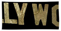 Gold Hollywood Sign Hand Towel by Mindy Sommers