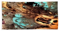 Gold N Turquoise Bath Towel