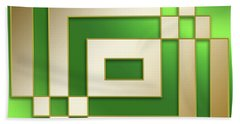 Gold On Green - Chuck Staley Hand Towel by Chuck Staley