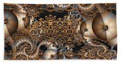 Hand Towel featuring the digital art Gold Rush by Robert Orinski