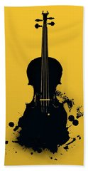 Gold Violin Bath Towel