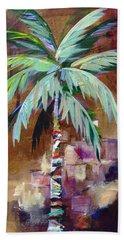 Golden Amethyst Palm Bath Towel by Kristen Abrahamson